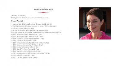 Foto zur Meldung: Monica Theodorescu im Reitrevier Münchehofe