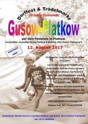 Vorschaubild zur Meldung: Dorffest und Trödelmarkt Gusow-Platkow