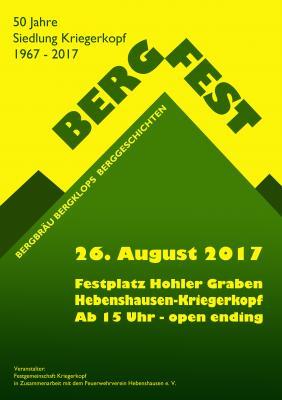 Plakat Bergfest