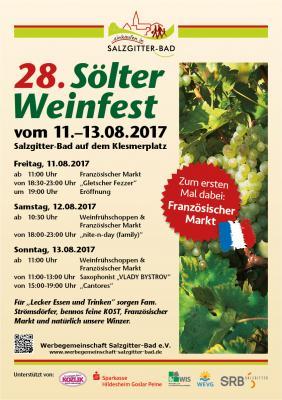 Vorschaubild zur Meldung: 28. Sölter Weinfest (11.-13.08.17)
