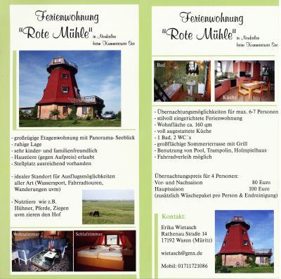 """Foto zur Meldung: Ferienwohnung """"Rote Mühle"""""""