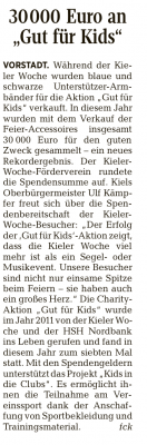 Bericht aus den Kieler Nachrichten