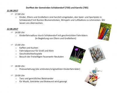 Foto zur Meldung: Dorffest – Schlakendorf & Karnitz