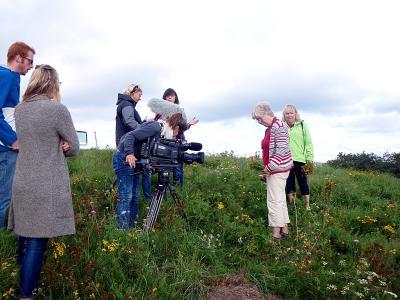 Foto zur Meldung: NDR- Fernsehteam weilte zu Filmaufnahmen in Bühren