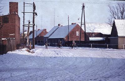 Freileitungen für den elektrischen Strom im Sieversdorf der 1960er Jahre