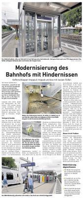 Foto zu Meldung: Modernisierung des Bahnhofs mit Hindernissen