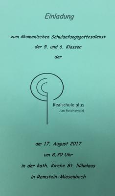 Vorschaubild zur Meldung: Ökumenischer Schulanfangsgottesdienst am 17.8.2017