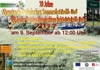 Vorschaubild zur Meldung: 10 Jahre Deutsch-Polnisches Sommerfest Aurith - Urad 2017