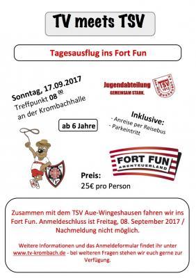 TV meets TSV - Ausflug nach Fort Fun