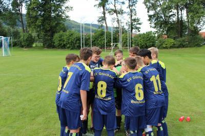 Foto zur Meldung: C-Junioren gewinnen Freundschaftsspiel gegen Westerengel