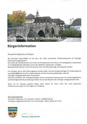 Foto zu Meldung: Dorfentwicklung in Obermaßfeld