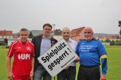 Foto zur Meldung: Sportplatzeinweihung in Bleicherode