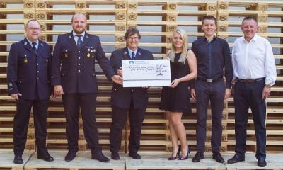 Vorschaubild zur Meldung: Jugendgruppe der Freiwilligen Feuerwehr Köditz erhält großzügige Spende von Hochfranken Holz