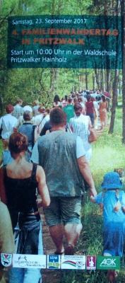 Vorschaubild zur Meldung: Ablaufplan 4. Familienwandertag in Pritzwalk