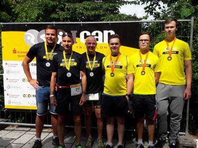 Foto zur Meldung: Tri Team MTV Freiheit in Nordhausen beim Ican Triathlon