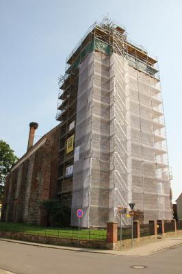 Foto zur Meldung: Sanierung des Kirchturms