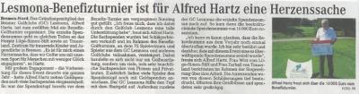 """Vorschaubild zur Meldung: Bericht über Alfred´s Benefiz Turnier in """"Mein Verein"""""""