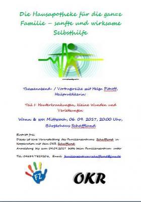 """Foto zur Meldung: Einladung Themenabend """"Die Hausapotheke"""""""