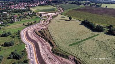 Vorschaubild zur Meldung: Bau Südgraben Altdöbern - Drohnenfotos