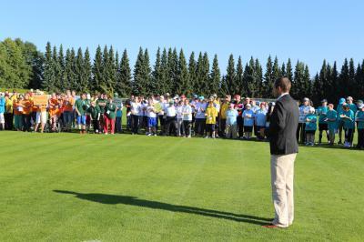Eröffnung des 23. Sportfestes für behinderte Menschen durch Dr. Stephan Meyer