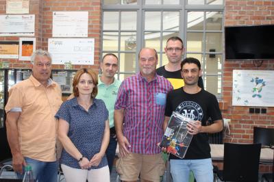 Von links: Andreas Krischkofsky (IG Klinkerhallen), Susanne Selbert (Ju-Jitsu Sachsen-Anhalt), Stefan Rosenkranz (IG Klinkerhallen), Silvio Klawonn, Andre Kabelitz (beide KSG Zeitz) Tamer Zeidan