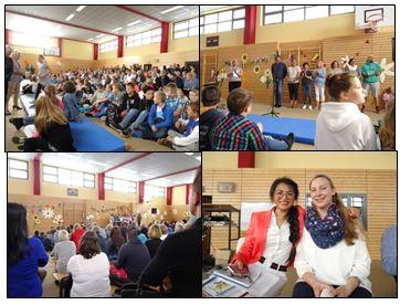 """Vorschaubild zur Meldung: """"Großer Auftritt für die Kleinsten"""" – Einschulung der 5. Klassen an der IGS Grünthal"""