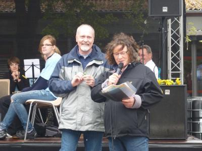 Unsere ehemaligen Kinder- und Jugendbeauftragten Anne Dammel und Lothar Marx