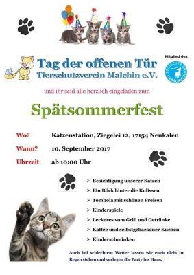 Foto zur Meldung: Tag der offenen Tür im Tierschutzverein Malchin e.V.