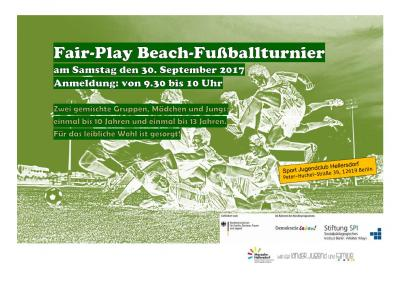Foto zur Meldung: Fair-Play Fußballturnier am Samstag den 30. September