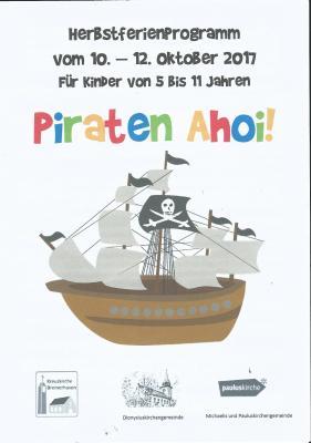 """Foto zu Meldung: Herbstferienprogramm """"Piraten Ahoi"""""""