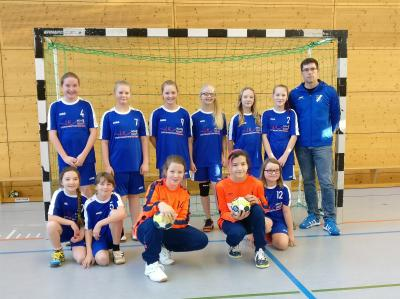 Foto zur Meldung: Handball: weibliche Jugend D mit super Auftakt