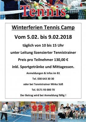 Foto zu Meldung: Tennis-Camp in den Winterferien 2018