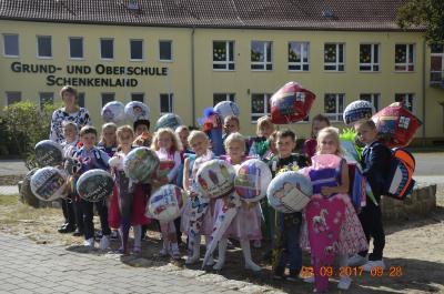 Foto zu Meldung: Einschulung an der Grund- und Oberschule Schenkenland