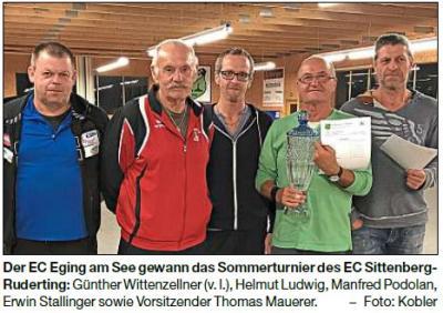 Vorschaubild zur Meldung: Eging, Röhrnbach und Karlsbach beim Sommerturnier ganz oben