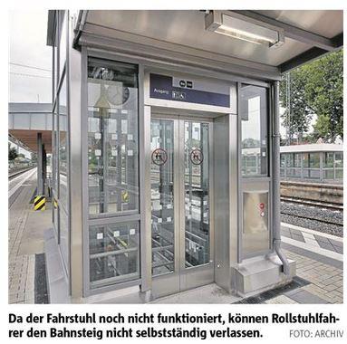 Foto zu Meldung: Bahnsteig ist für jeden Rollstuhlfahrer Endstation