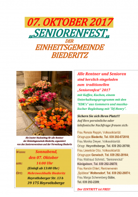 """Foto zu Meldung: Offenes """"Seniorenfest"""" der Einheitsgemeinde Biederitz"""