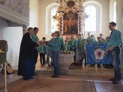 Foto zu Meldung: Stammesgründung der Lugauer Gemeindepfadfinder