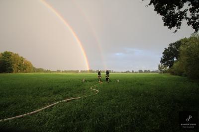 Foto zur Meldung: Übung der drei Gemeindewehren in Sülstorf