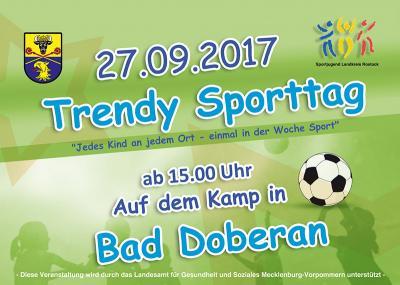 Foto zur Meldung: Trendy Sporttag in Bad Doberan am 27. September 2017
