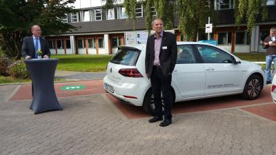 Landrat Jörg Farr mit Klimaschutzmanager Horst Roch