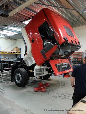 Bauzustand des neuen TLF 4000