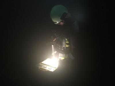 Foto zur Meldung: Atemschutzübung im Luftschutzbunker