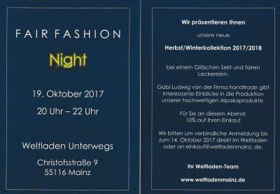 Vorschaubild zur Meldung: Fair Fashion Night am 19. Oktober von 20.00 bis 22.00 Uhr