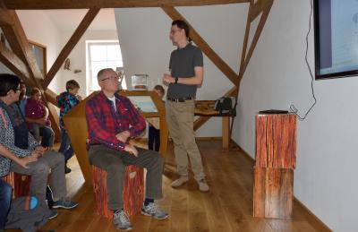 Referent Robert Madl berichtet über die Kreuzotter im Spessart.
