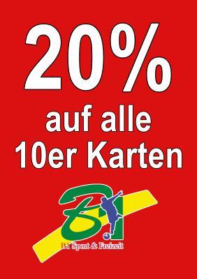 Foto zu Meldung: 20 % auf alle Zehnerkarten bis 31.10.