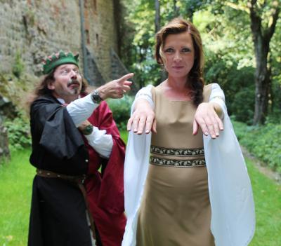 Foto zur Meldung: Lebendige Burgführung am 03.10.anno 2017 auf Burg Rabenstein