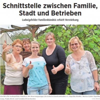 Steuergruppenmitglieder Familienbündnis Ludwigsfelde