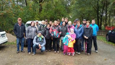 Wandergruppe mit dem Heimatverein Grünlichtenberg