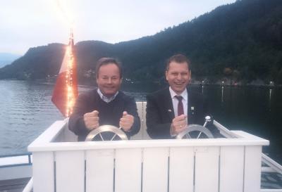 Bürgermeister Johann Schuster und Bürgermeister Steffen Weigel: Zwei Steuermänner am Steuerrad des Partnerschaftsschiffes
