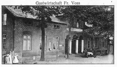 1907 Gasthof Fr. Voß, noch mit der Aufschrift Ludwig Saggau